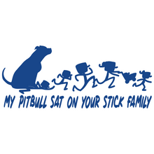 Load image into Gallery viewer, Pitbull Sat On Your Stick Family Pit Bull Sat On - FN Decals