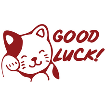Load image into Gallery viewer, Good Luck Cat Vinyl Decal Sticker - FN Decals