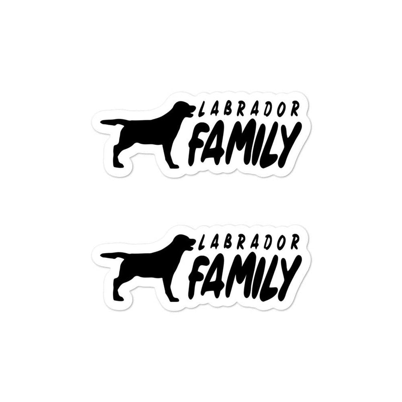 Labrador Family 2 Sticker - Decal Sticker World