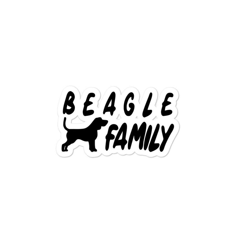 Beagle Family 1 Sticker - Decal Sticker World