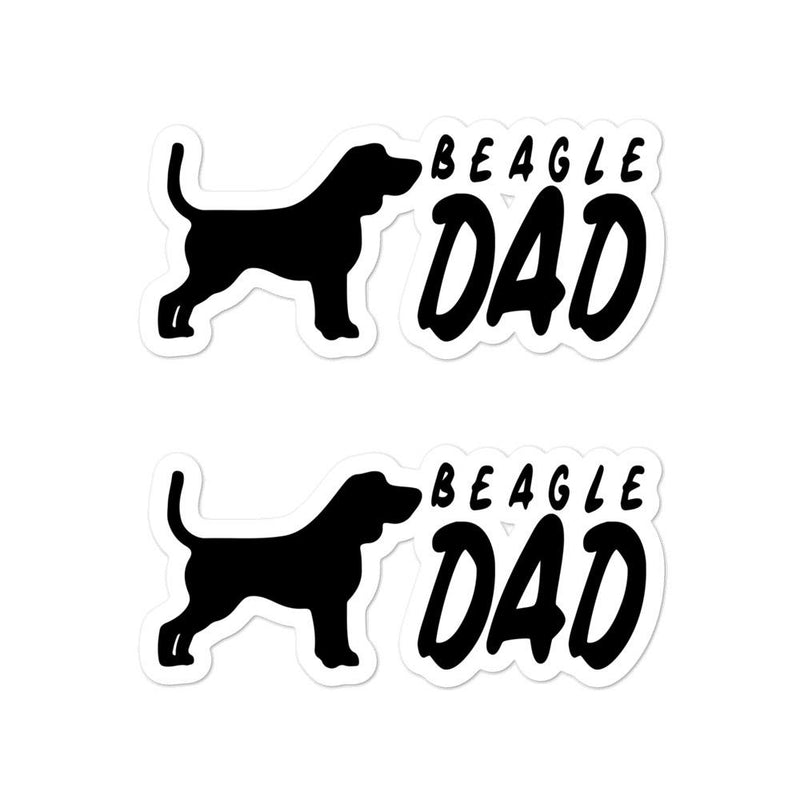Beagle Dad 2 Sticker - Decal Sticker World
