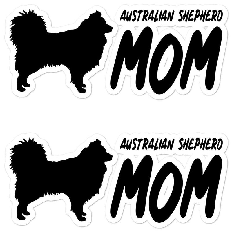 Australian Shepherd Mom 2 Sticker - Decal Sticker World