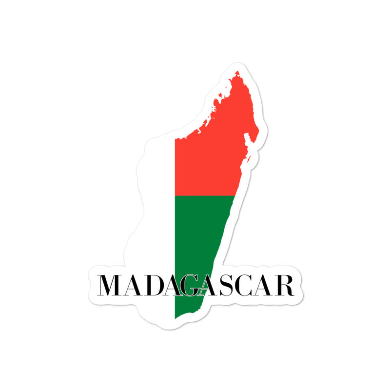 Madagascar Bubble-free stickers - Decal Sticker World