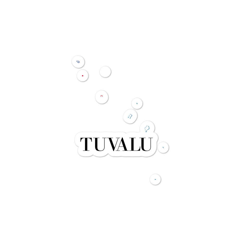 Tuvalu Bubble-free stickers - Decal Sticker World