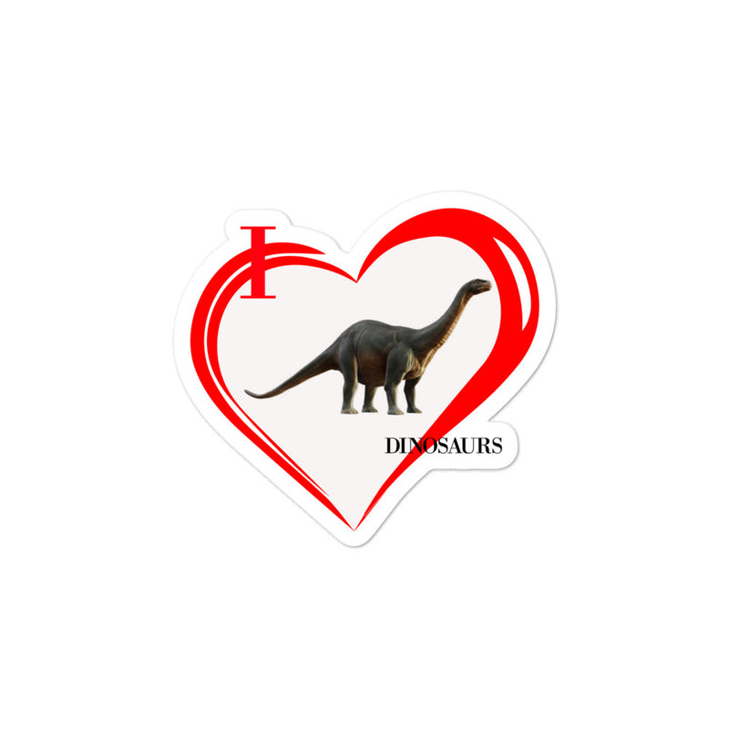 I Love Dinosaurs Bubble-free stickers - Decal Sticker World