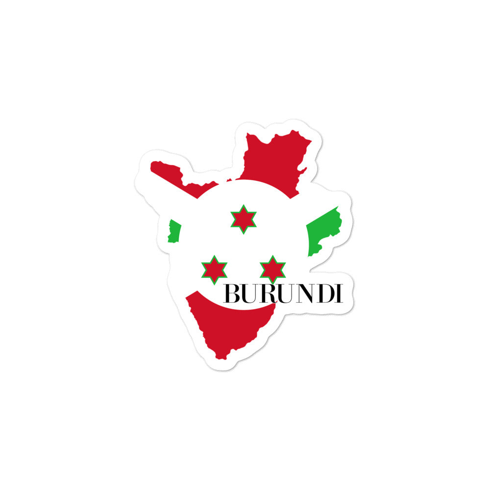 Burundi Bubble-free stickers