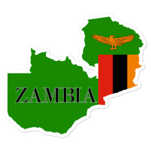 Load image into Gallery viewer, Zambia Bubble-free stickers - Decal Sticker World