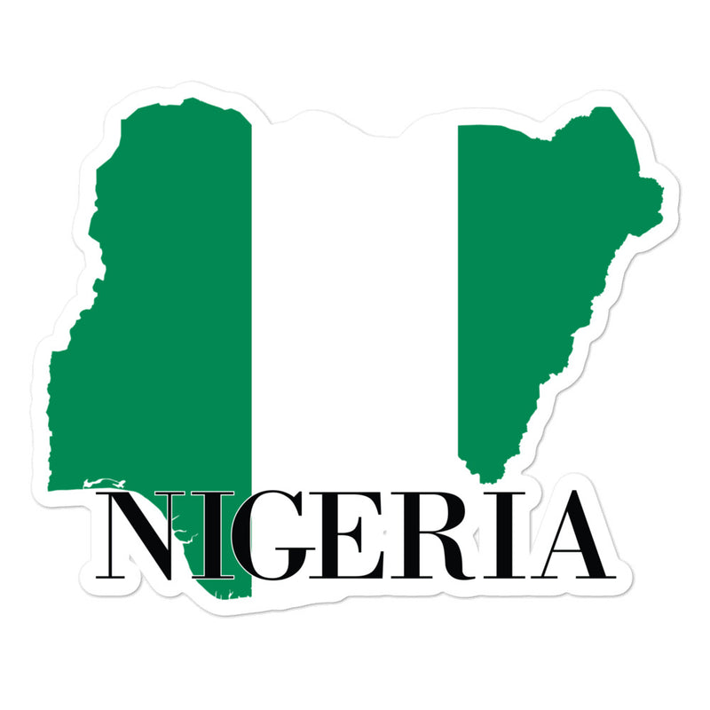 Nigeria Bubble-free stickers - Decal Sticker World