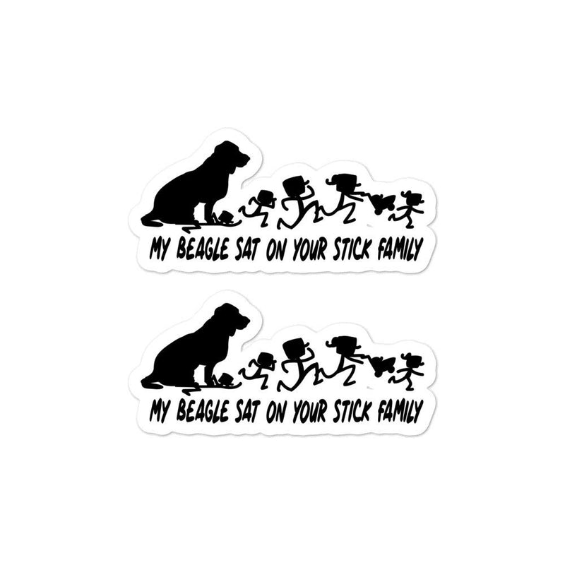 Beagle Sat On Your Stick Family Sticker - Decal Sticker World