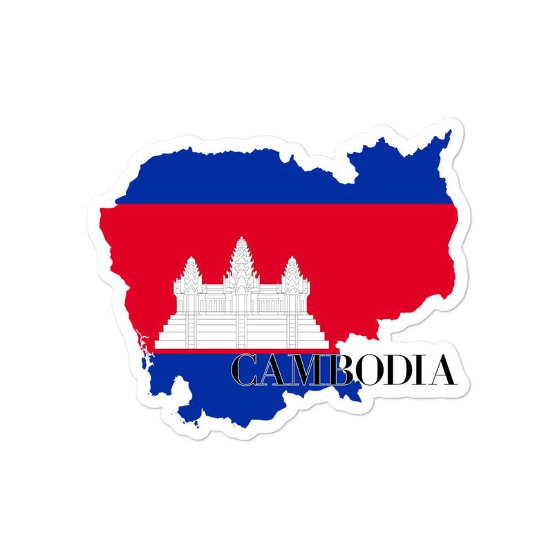 Cambodia Bubble-free stickers - Decal Sticker World