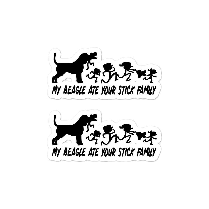 Beagle Ate Your Stick Family Sticker - Decal Sticker World