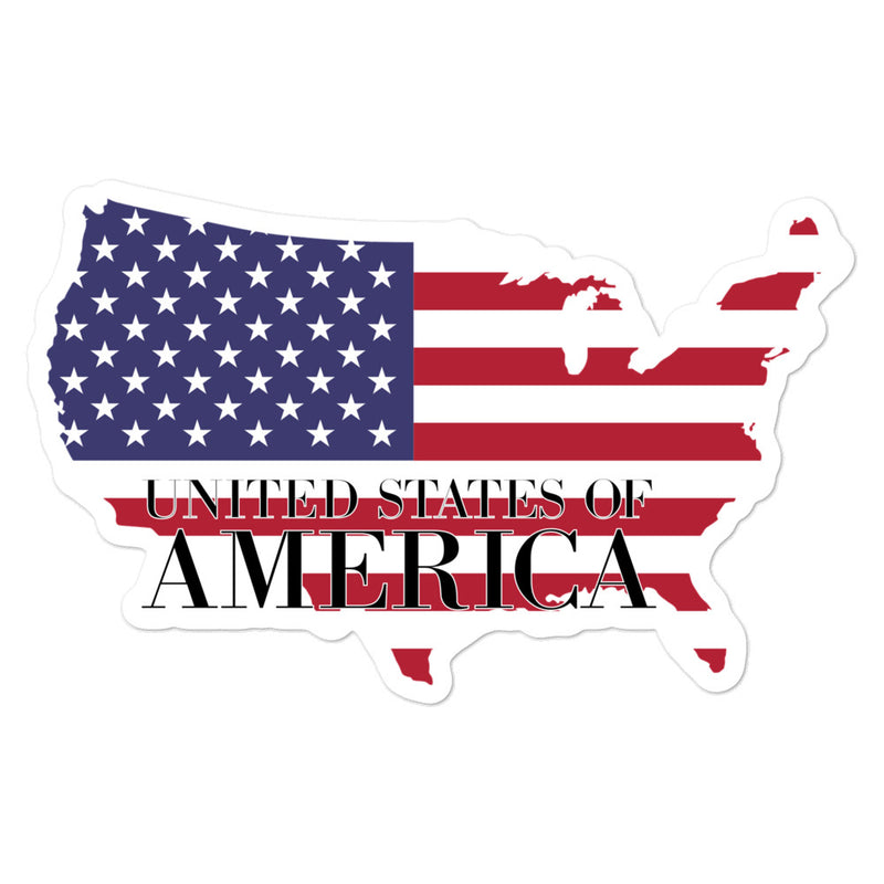 United State of America Bubble-free stickers - Decal Sticker World
