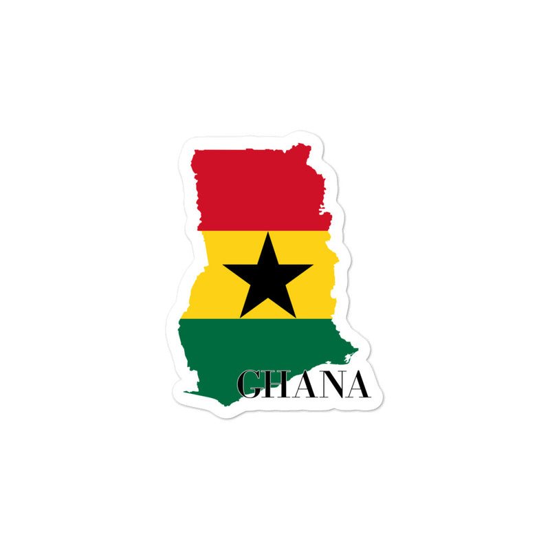 Ghana Bubble-free stickers - Decal Sticker World