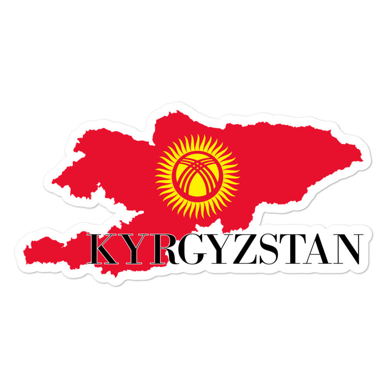 Kyrgyzstan Bubble-free stickers - Decal Sticker World