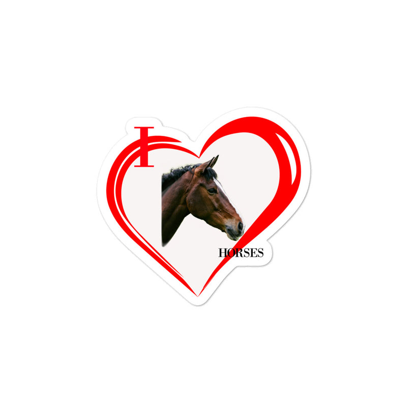 I Love Horses Bubble-free stickers - Decal Sticker World