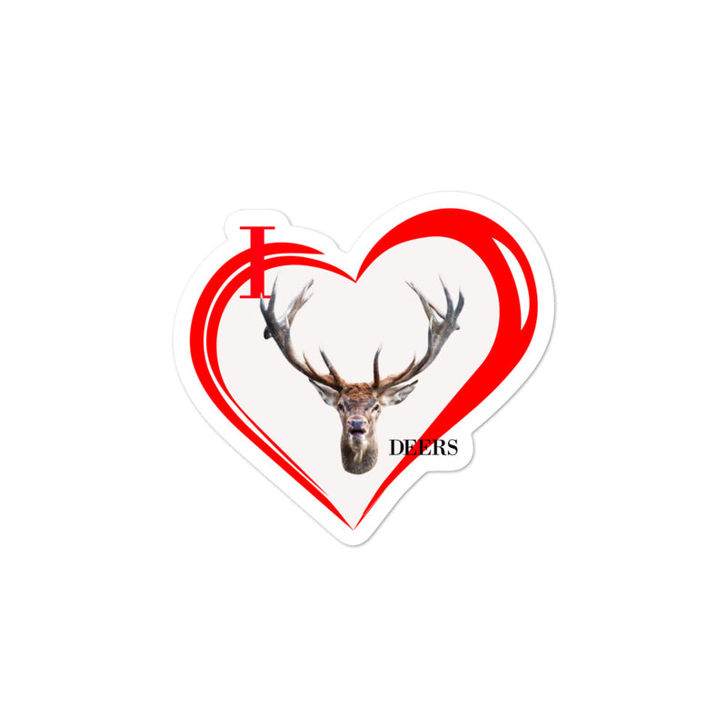 I Love Deers Bubble-free stickers - Decal Sticker World
