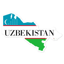 Load image into Gallery viewer, Uzbekistan Bubble-free stickers - Decal Sticker World