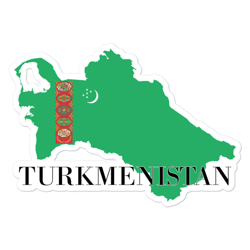 Turkmenistan Bubble-free stickers - Decal Sticker World