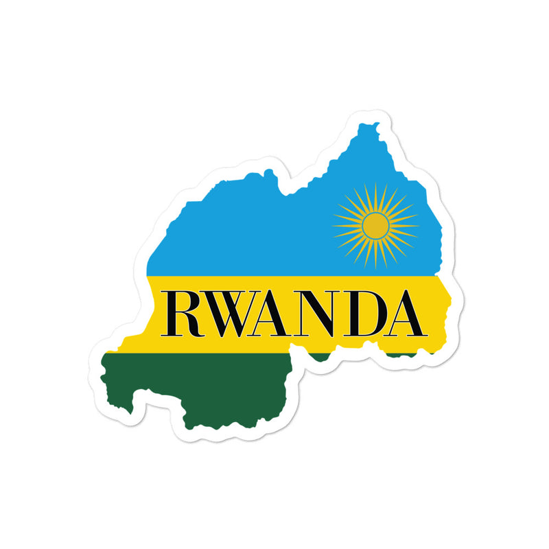 Rwanda Bubble-free stickers - Decal Sticker World