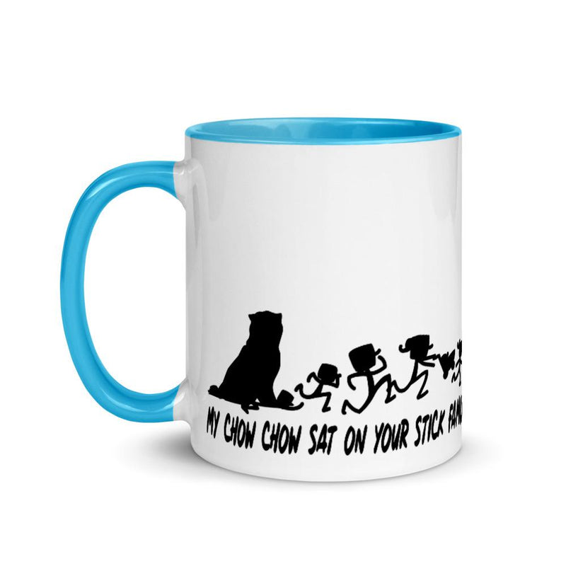 Chowchow Sat On Your  Stick Family Mug - Decal Sticker World