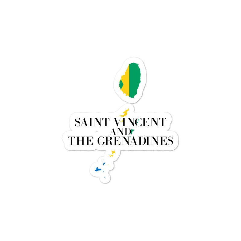 Saint Vincent and the Grenadines Bubble-free stickers - Decal Sticker World