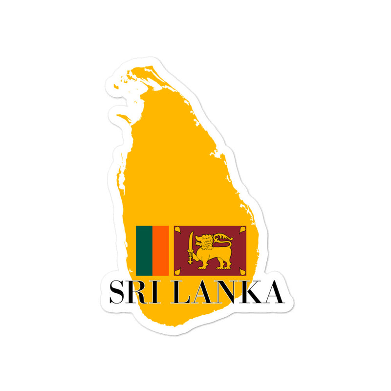 SRI Lanka Bubble-free stickers - Decal Sticker World