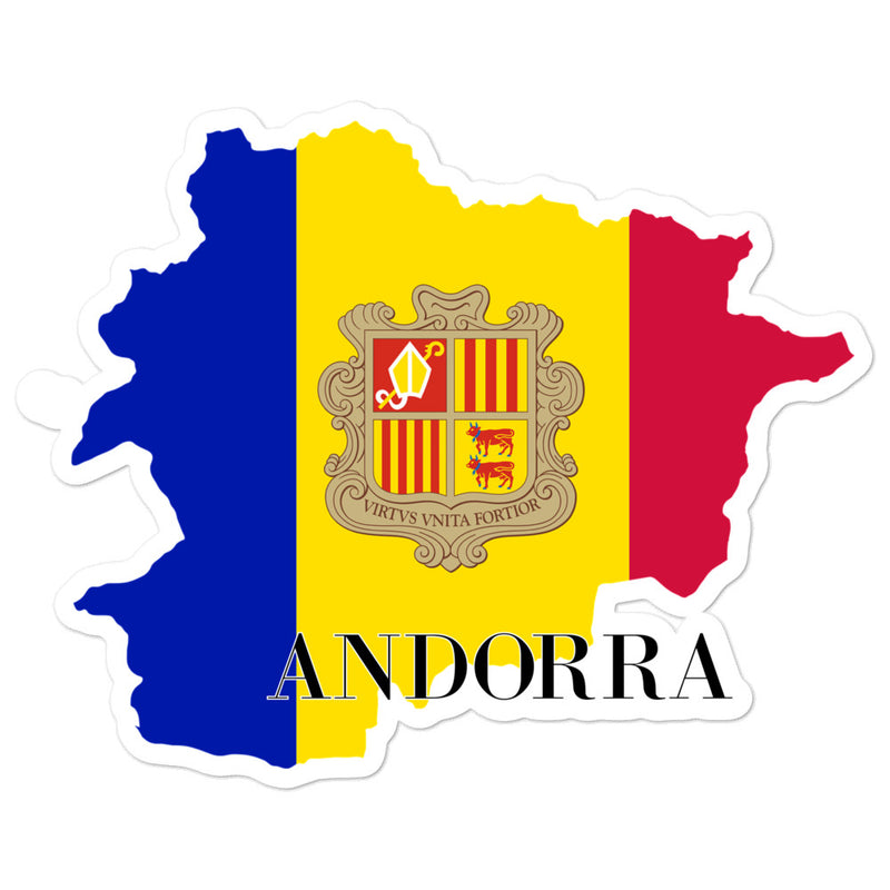 Andorra Bubble-free stickers - Decal Sticker World