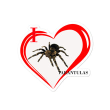 Load image into Gallery viewer, I Love Tarantulas Bubble-free stickers
