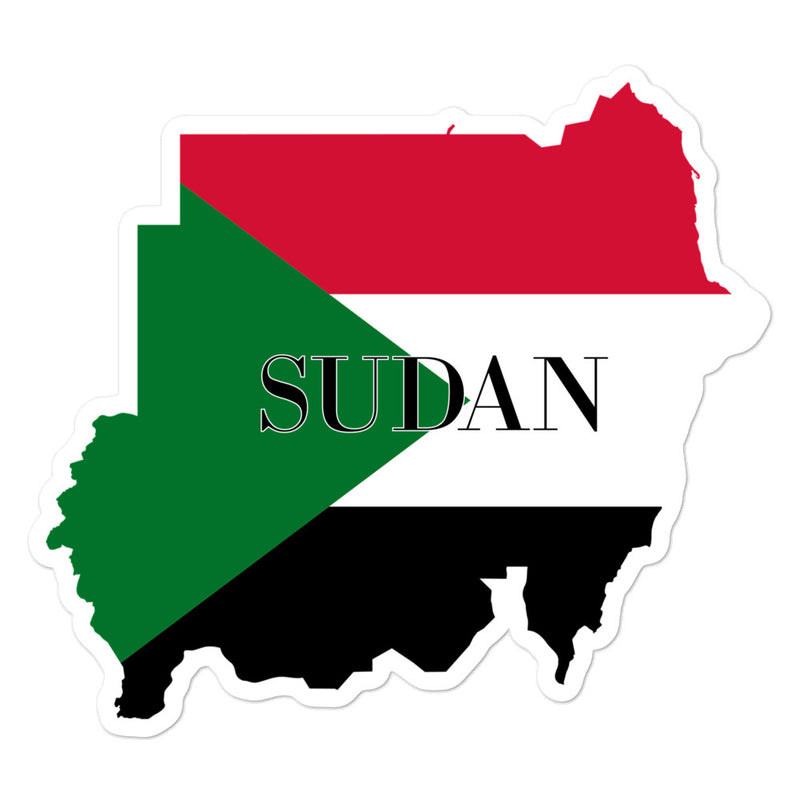 Sudan Bubble-free stickers - Decal Sticker World