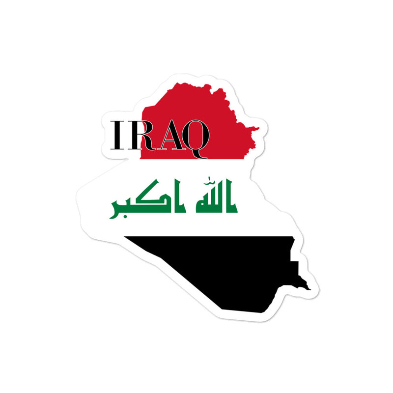 Iraq Bubble-free stickers - Decal Sticker World
