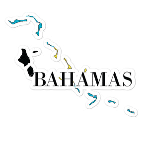 Bahamas Bubble-free stickers