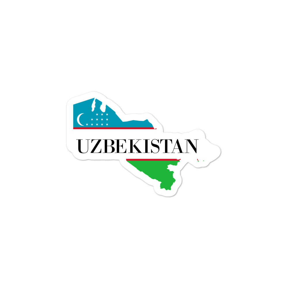 Uzbekistan Bubble-free stickers - Decal Sticker World