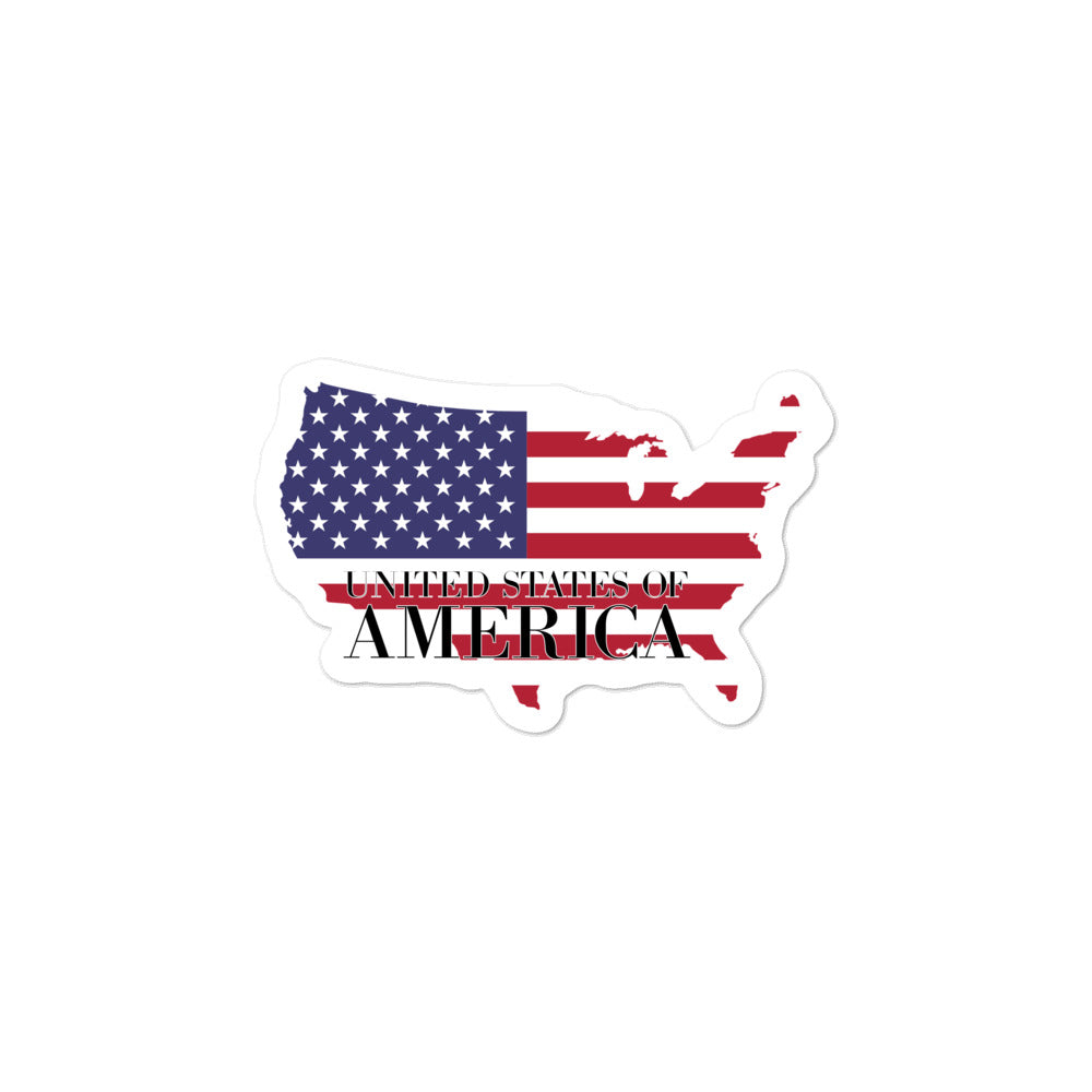 United State of America Bubble-free stickers