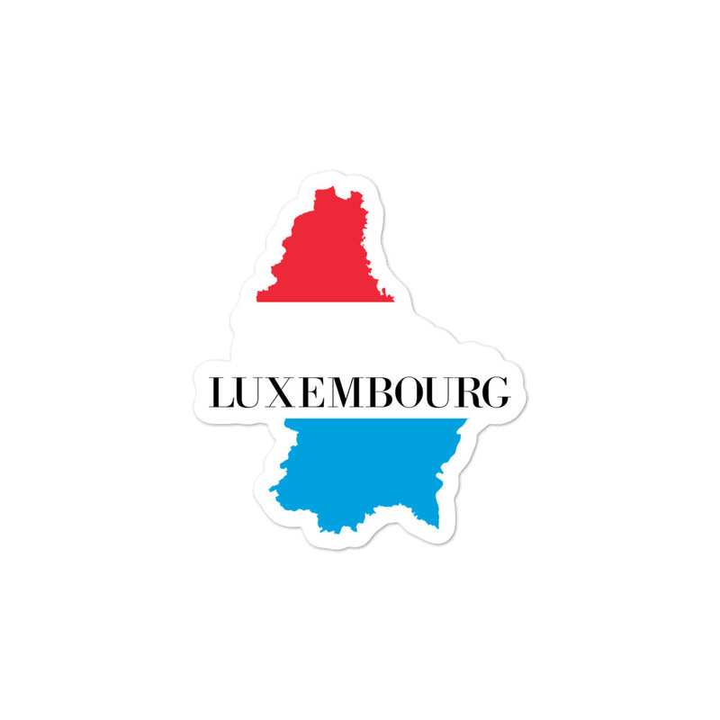 Luxembourg Bubble-free stickers - Decal Sticker World