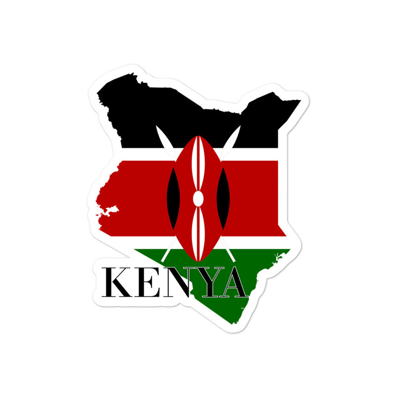 Kenya Bubble-free stickers - Decal Sticker World