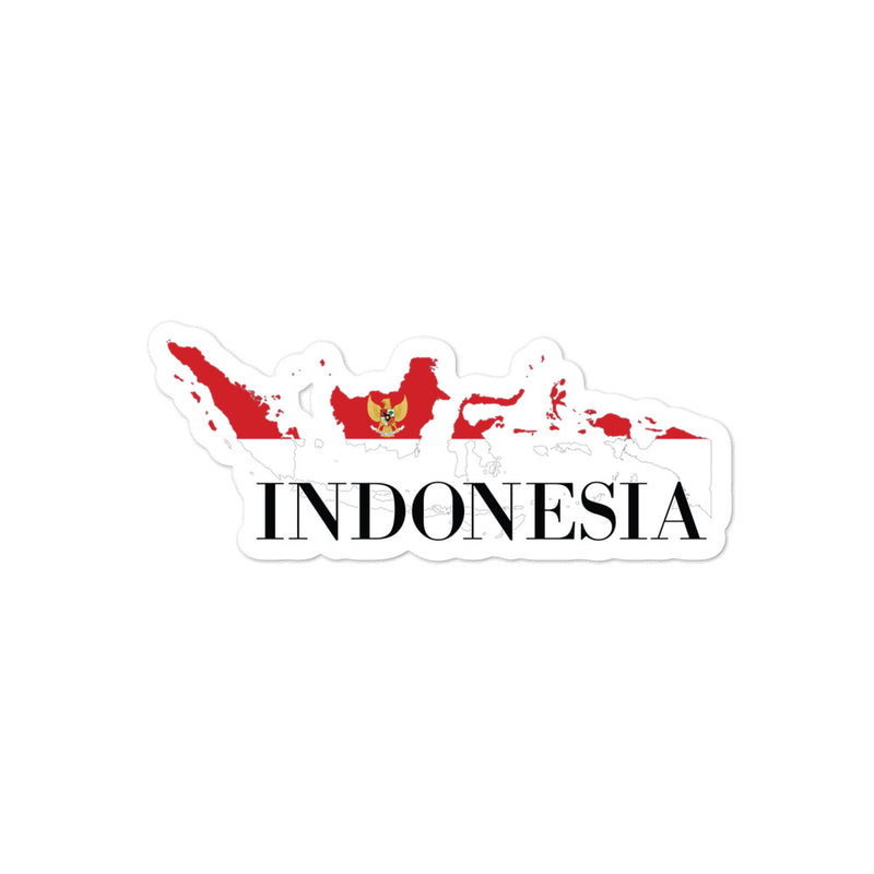 Indonesia Bubble-free stickers - Decal Sticker World