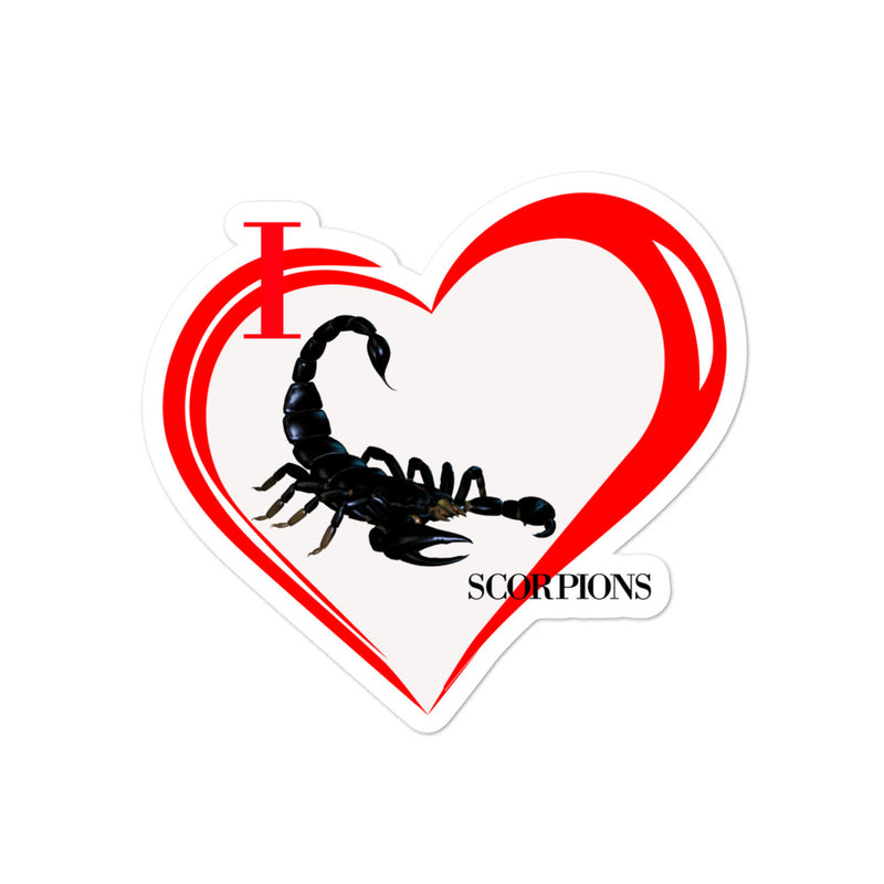 I Love Scorpions Bubble-free stickers - Decal Sticker World