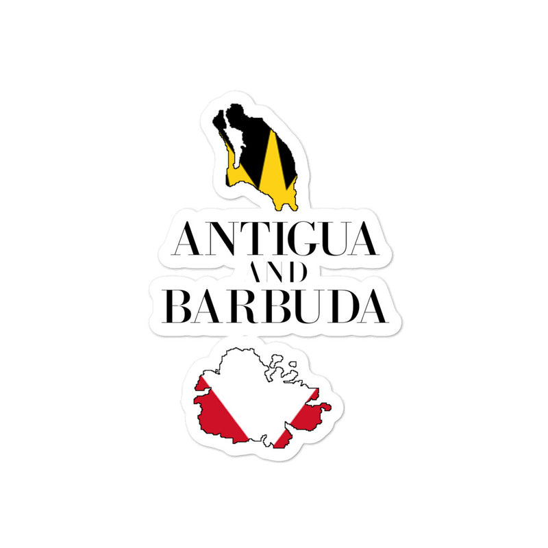 Antigua and Barbuda Bubble-free stickers - Decal Sticker World