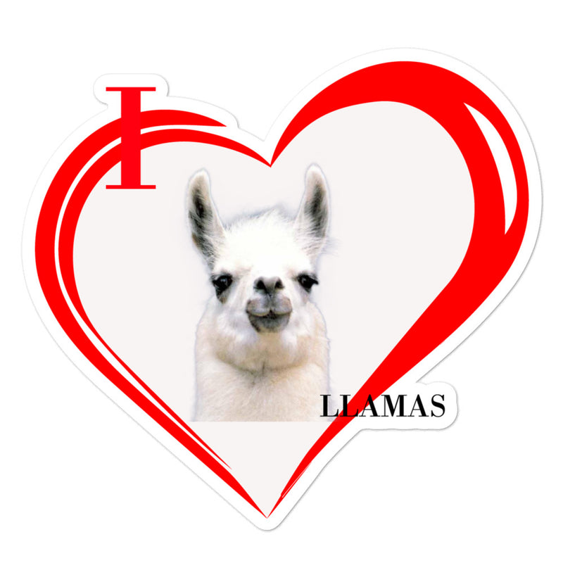 I Love Llamas Bubble-free stickers - Decal Sticker World