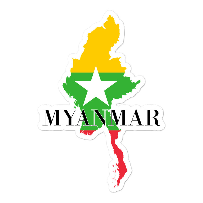 Myanmar Bubble-free stickers - Decal Sticker World