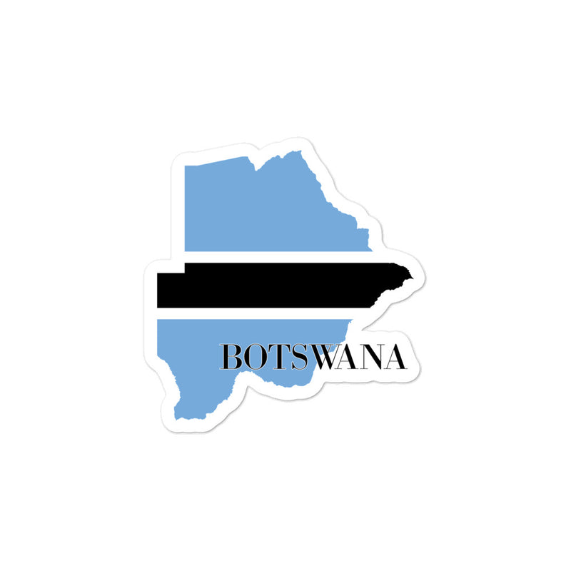 Botswana Bubble-free stickers - Decal Sticker World