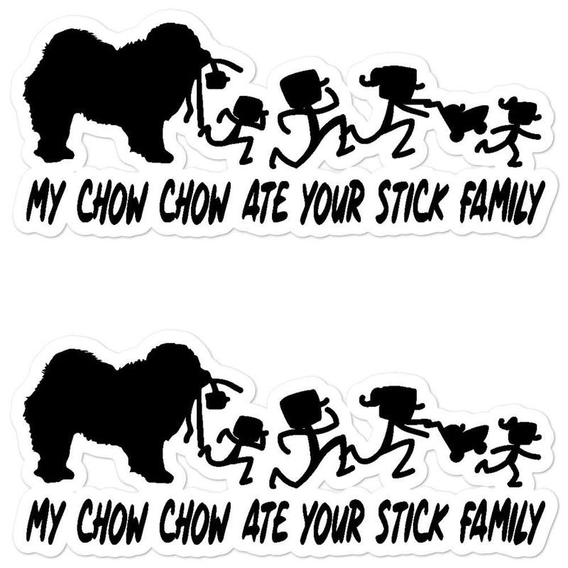 Chowchow Ate your Stick Family Sticker - Decal Sticker World
