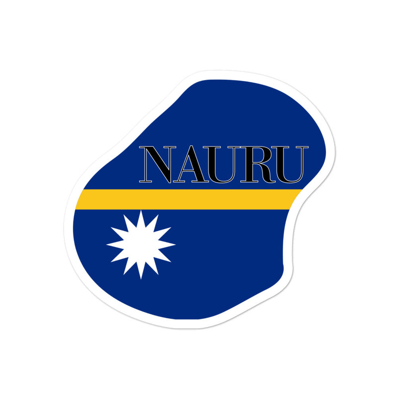Nauru Bubble-free stickers - Decal Sticker World
