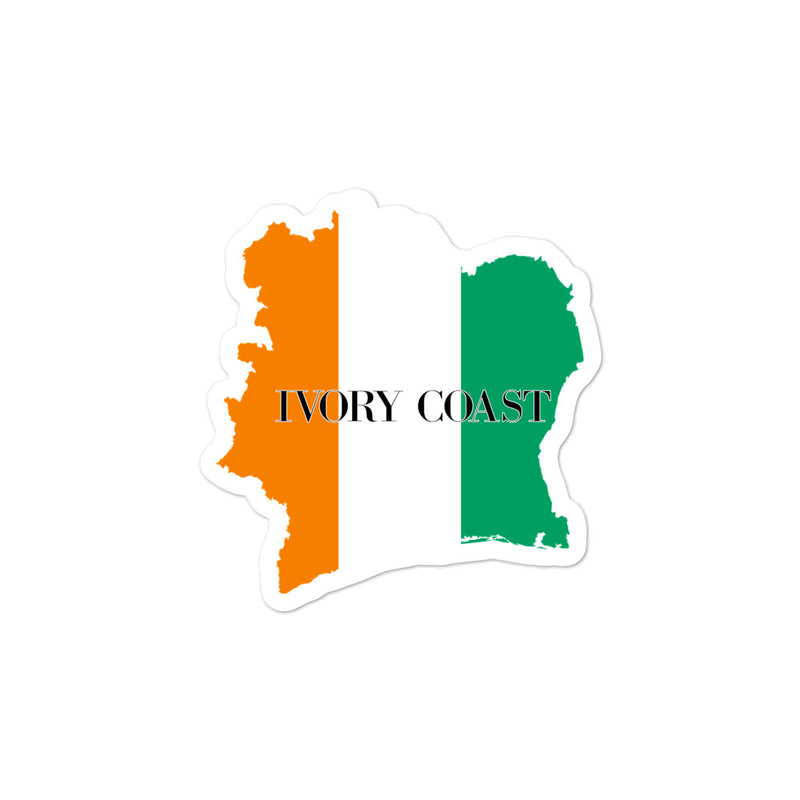 Ivory Coast Bubble-free stickers - Decal Sticker World