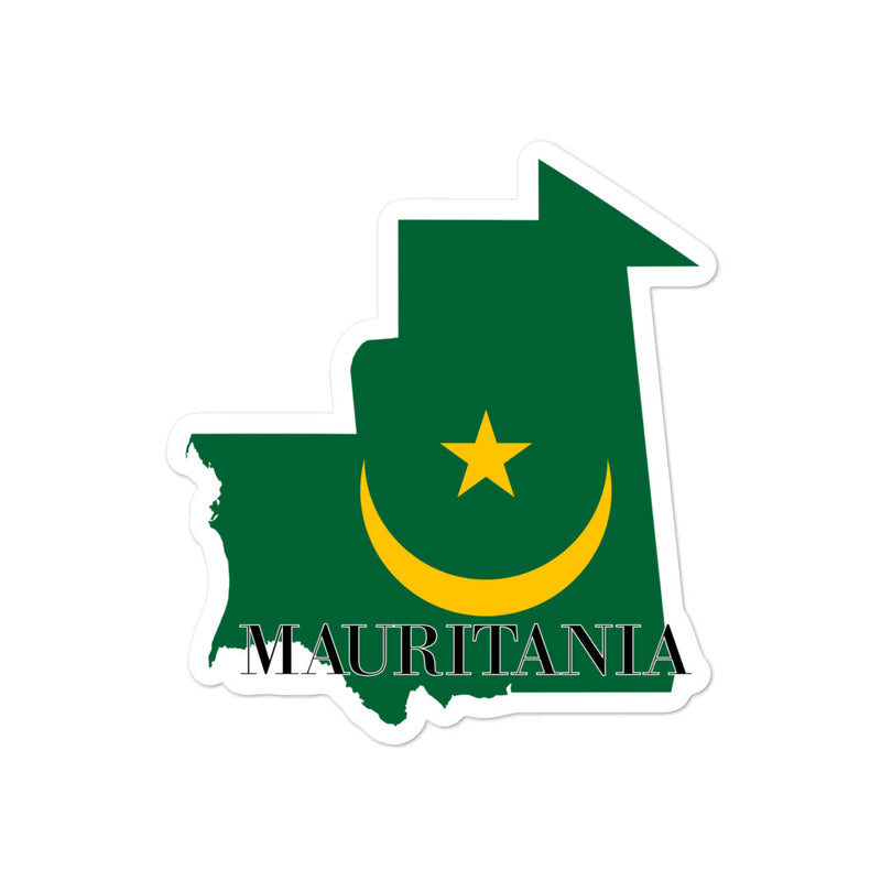Mauritania Bubble-free stickers - Decal Sticker World