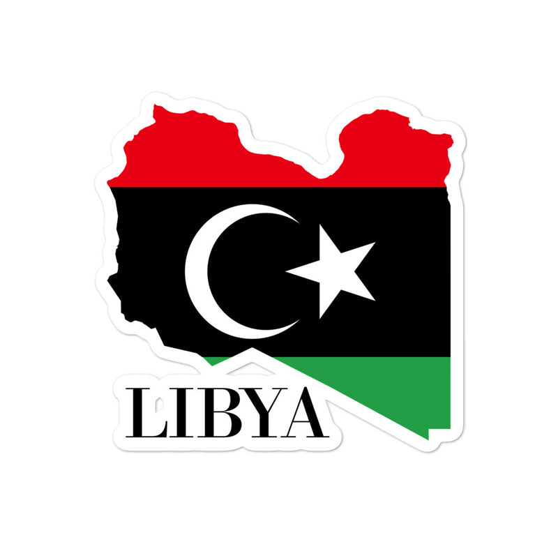 Libya Bubble-free stickers - Decal Sticker World