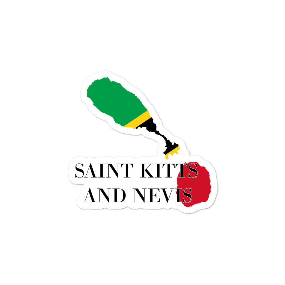 Saint Kitts and Nevis Bubble-free stickers