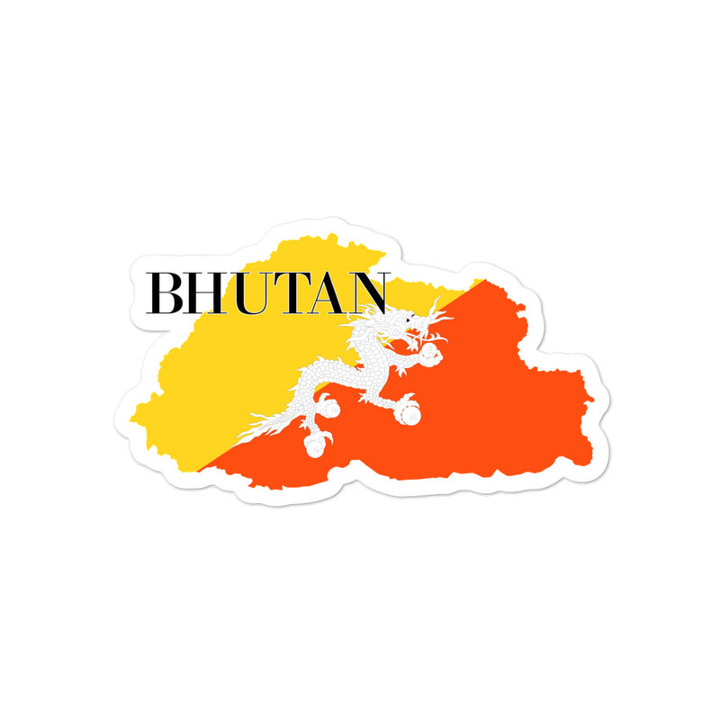 Bhutan Bubble-free stickers - Decal Sticker World