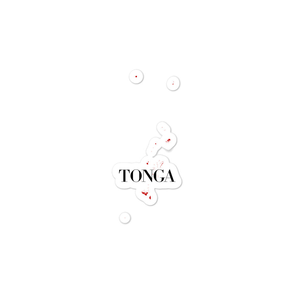 Tonga Bubble-free stickers