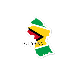 Guyana Bubble-free stickers